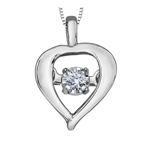 Tempo Heart Shaped Pendant with Diamond