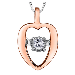 Forever Jewellery - Rose Gold Oblong Heart Shaped Tempo Pendant