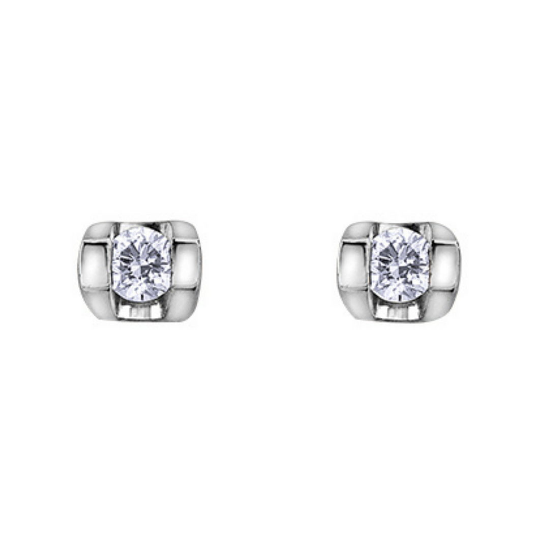 Diamond Studs .06 TDW Thick Setting