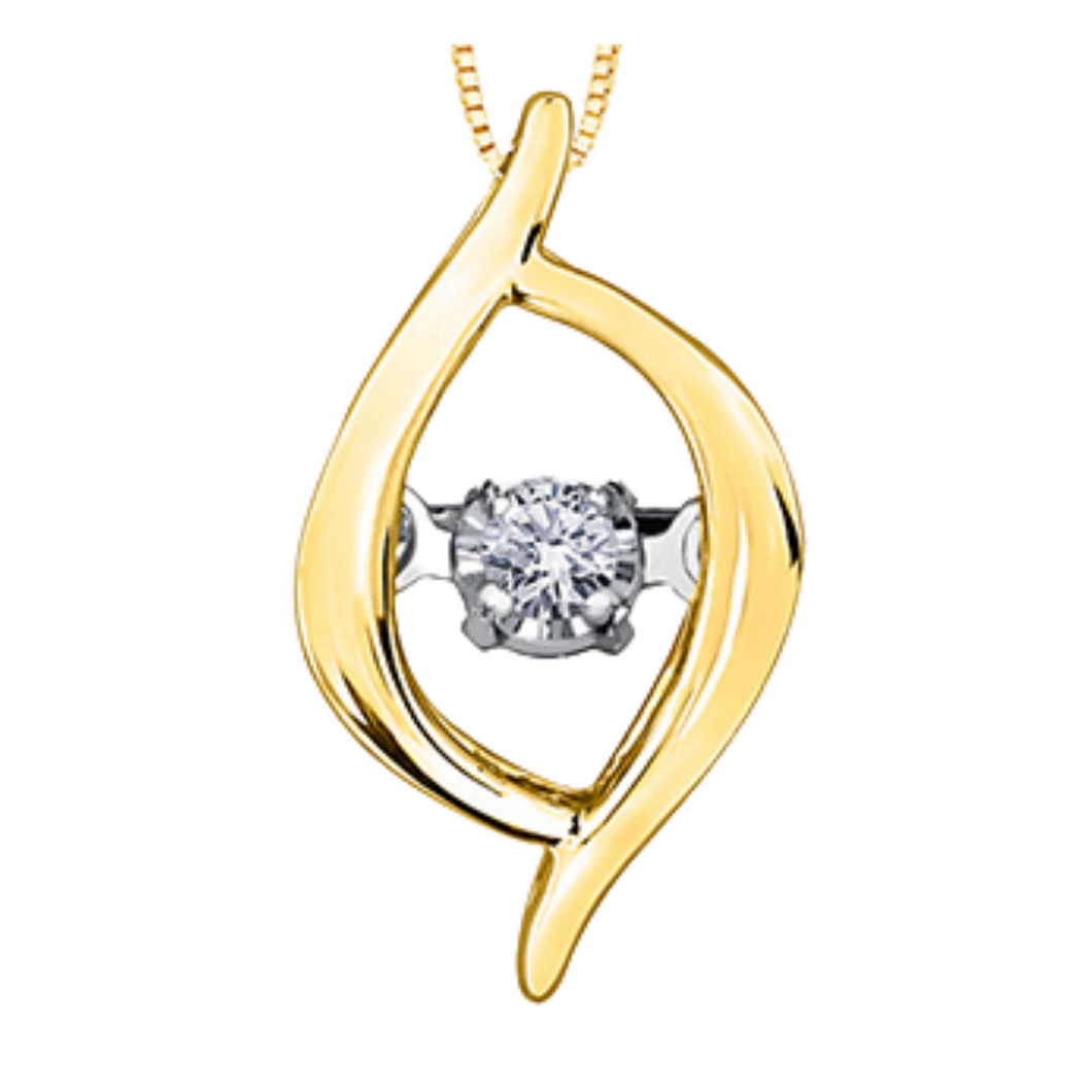 Tempo Yellow Gold Pendant with Diamond