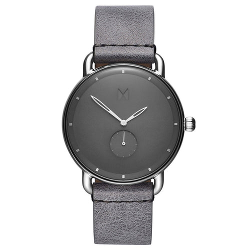 MVMT - Revolver Gotham Ladies Watch in Grey Leather with dark grey face