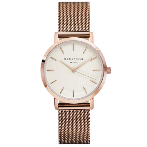 Rosefield Watch The Mercer White Rose Gold Round