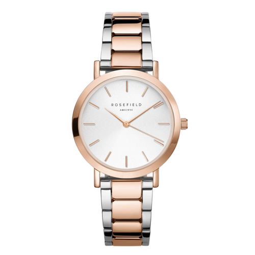Rosefield Wacth The Tribeca White & Rose Gold Tone Round