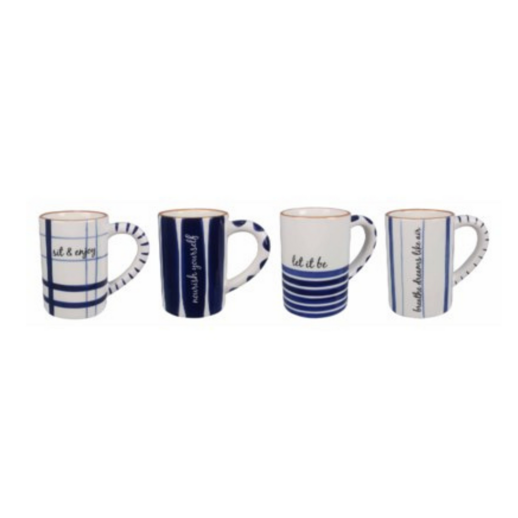 Blue & White Assorted Mugs