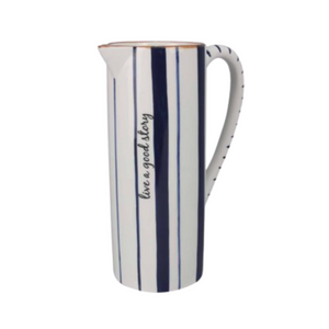 Blue & White Large Water Pitcher