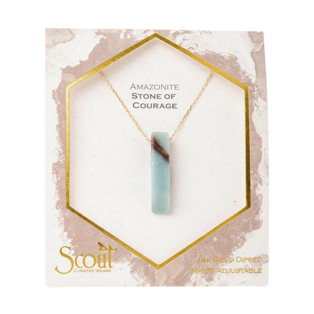 Scout - Stone Point Necklace Amazonite ( Stone of Courage)