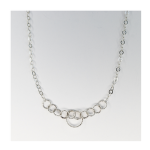 Long Silver Chain Open Link with Circles