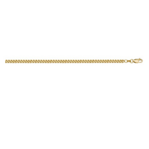 Solid Curb Link Chain in Yellow Gold