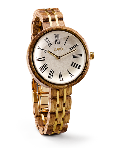 JORD - CASSIA Zebra & Ivory Ladies WOODEN Watch - Nasselquist Jewellers
