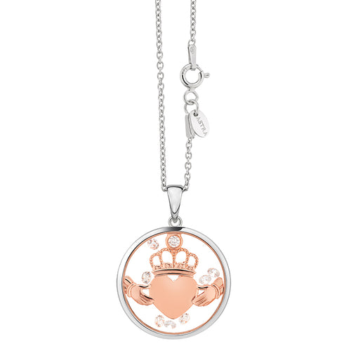 Astra Jewellery - Claddagh Heart Charm Pendant - Nasselquist Jewellers