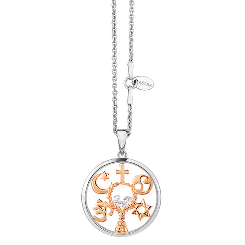Astra Jewellery - Coexist Charm Necklace - Nasselquist Jewellers