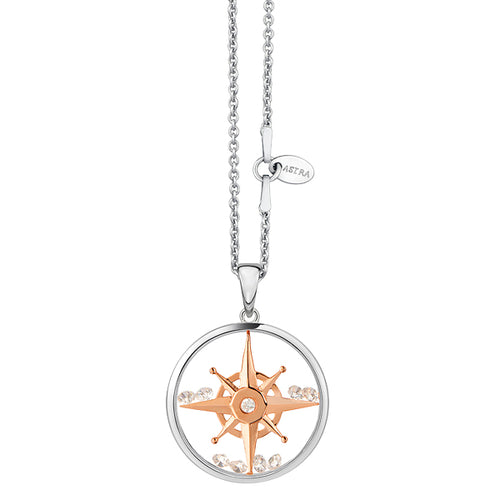 Astra Jewellery - Compass Star Charm Necklace - Nasselquist Jewellers