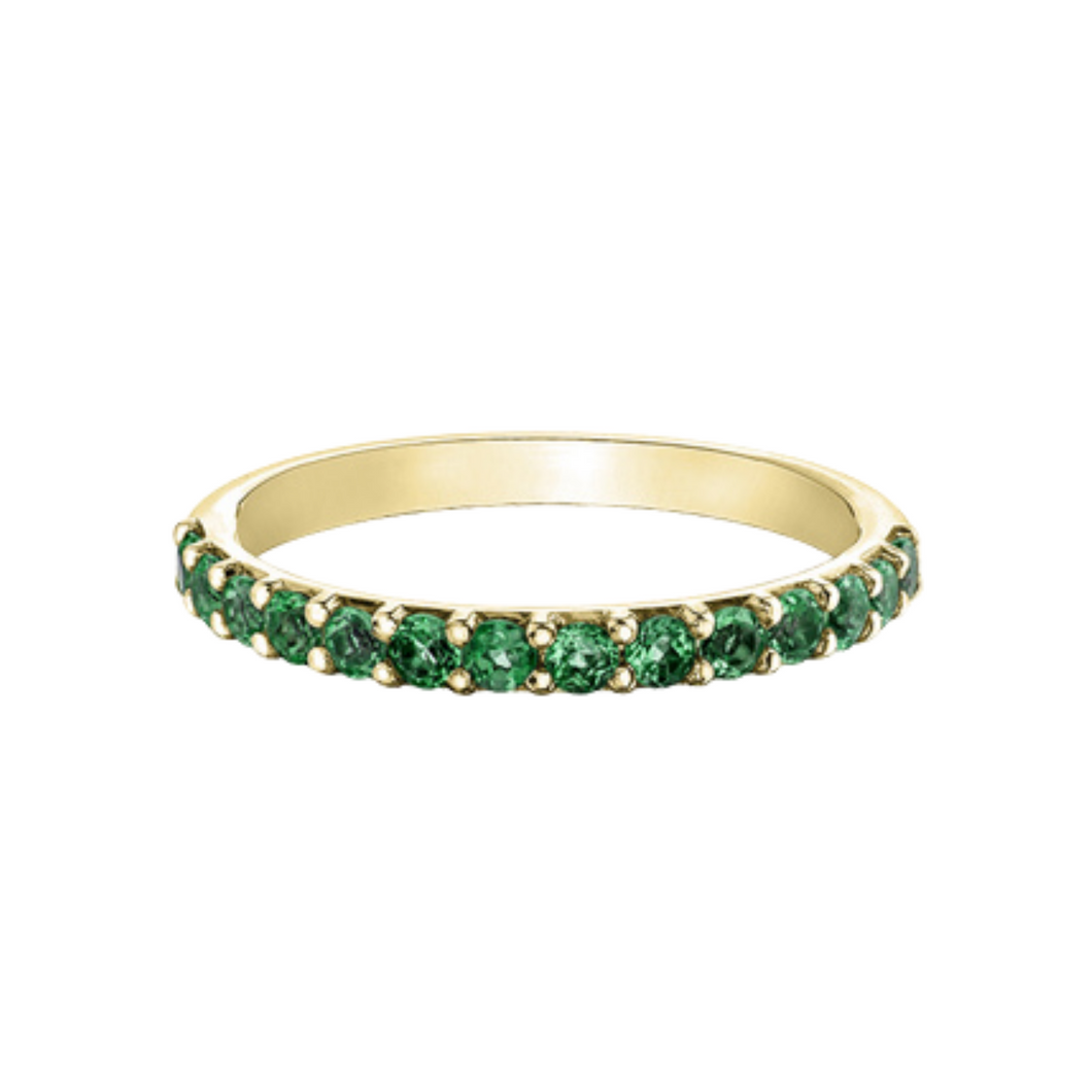 Chi Chi Collection - Created Emerald Ring in Yellow Gold