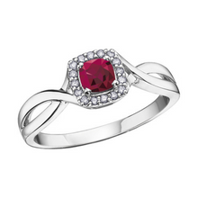 Load image into Gallery viewer, Halo Birthstone Rings