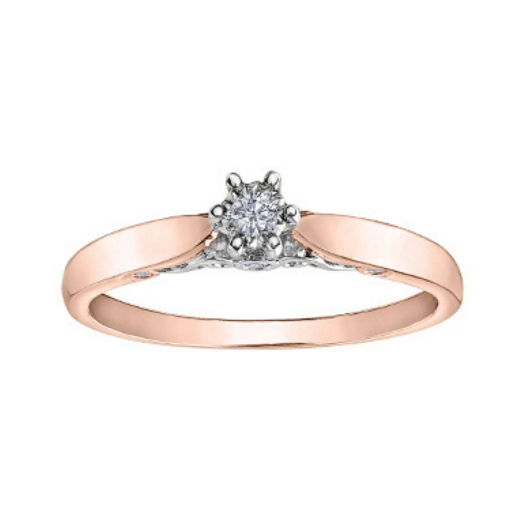 Illuminaire - Rose Gold Diamond Solitaire Ring