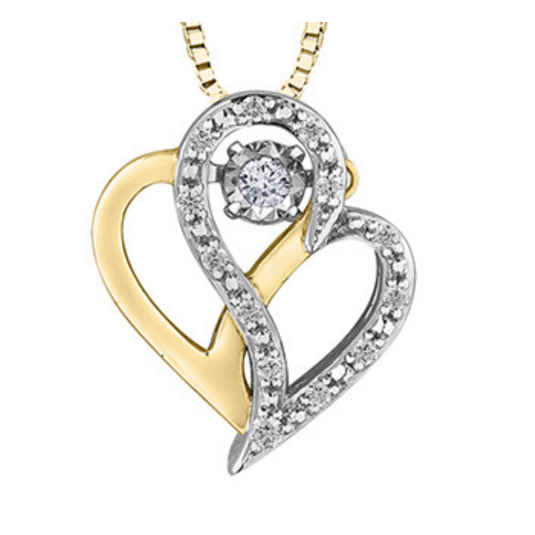 Pulse - Double Heart Diamond Pendant