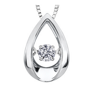 Pulse Tear Drop Diamond Pendant