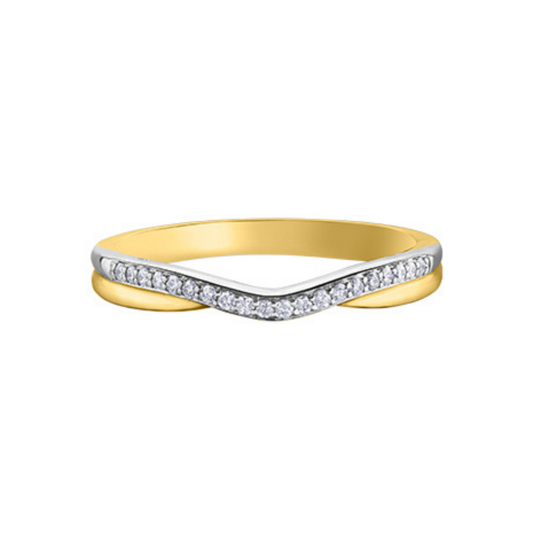 Yellow Gold & Diamond Band