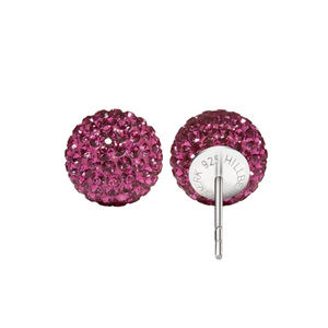 Hillberg & Berk - Sparkle Ball Stud Earrings