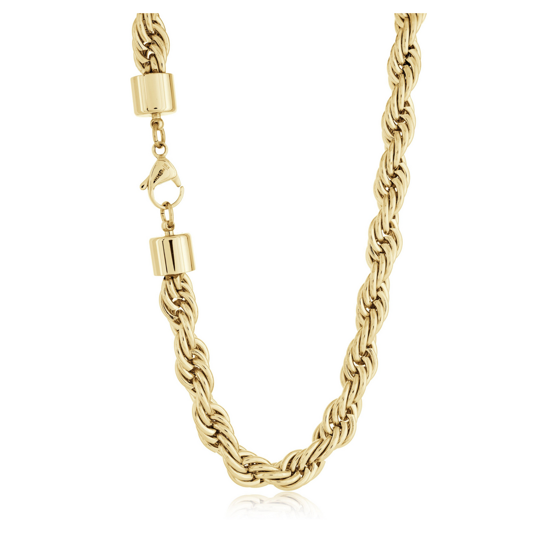 ITALGEM - Gold Plated Steel Rope Chain