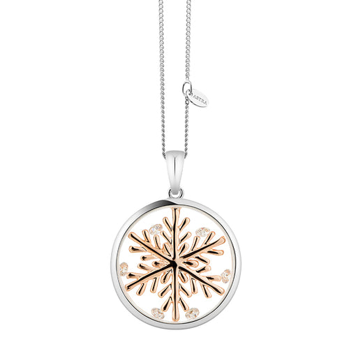 Astra Jewellery - Lucky Snowflake Charm Necklace - Nasselquist Jewellers