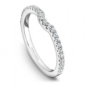 Noam Carver - Round Diamond Halo w/ Side Diamonds Engagement Ring (BAND SOLD SEPARATELY) - Nasselquist Jewellers