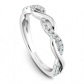 Noam Carver - Round Engagemnt Ring Criss Cross Sides w/Diamonds (BAND SOLD SEPARATELY) - Nasselquist Jewellers