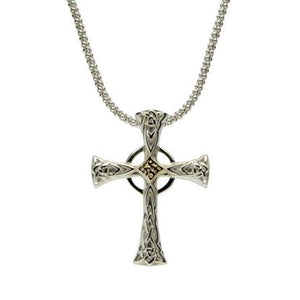 Keith Jack - Celtic Cross Silver and Gold - Nasselquist Jewellers