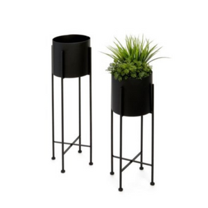Black Iron Plant Stands Set of 2
