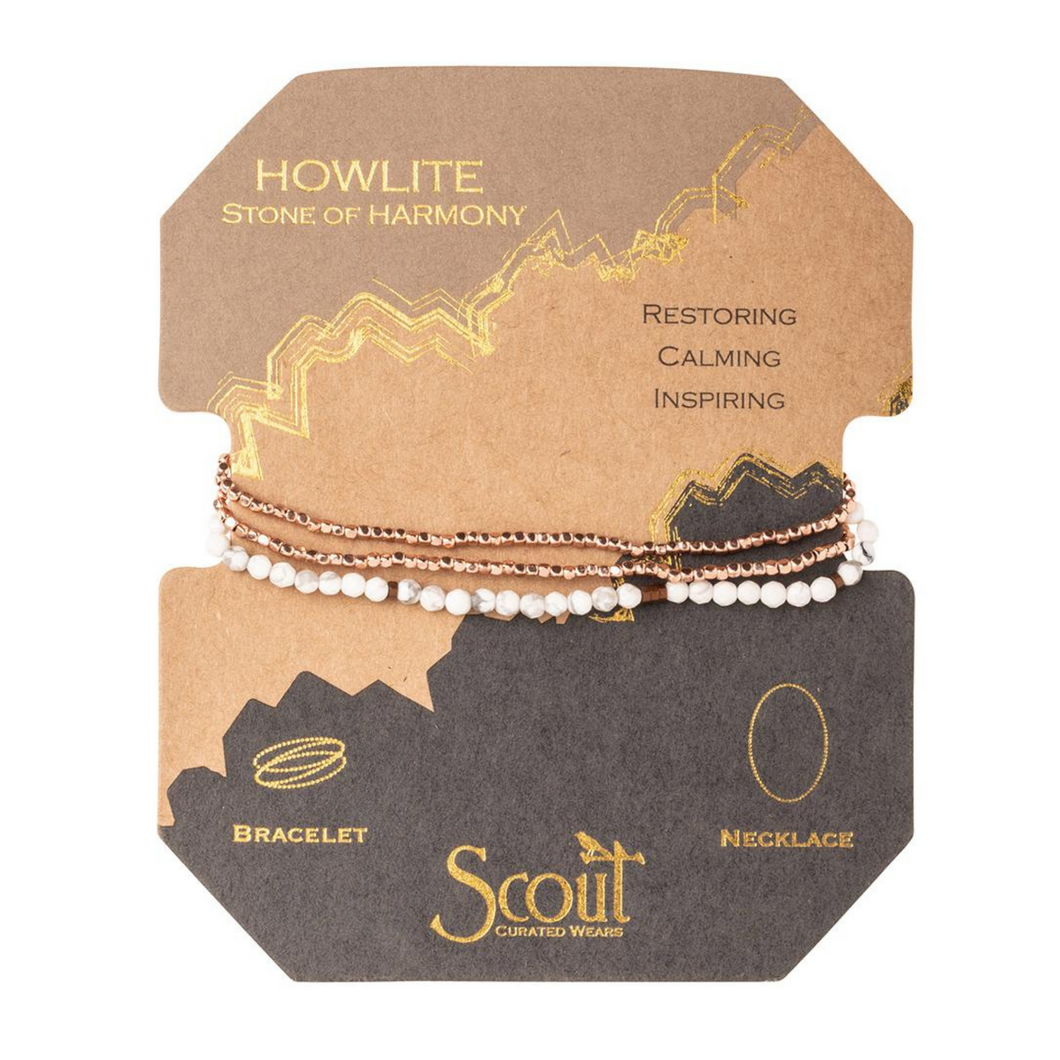 Scout - Delicate Stone Howlite ( Stone of Harmony )