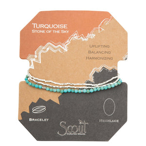 Scout - Delicate Stone Turquoise / Silver (Stone of the Sky)