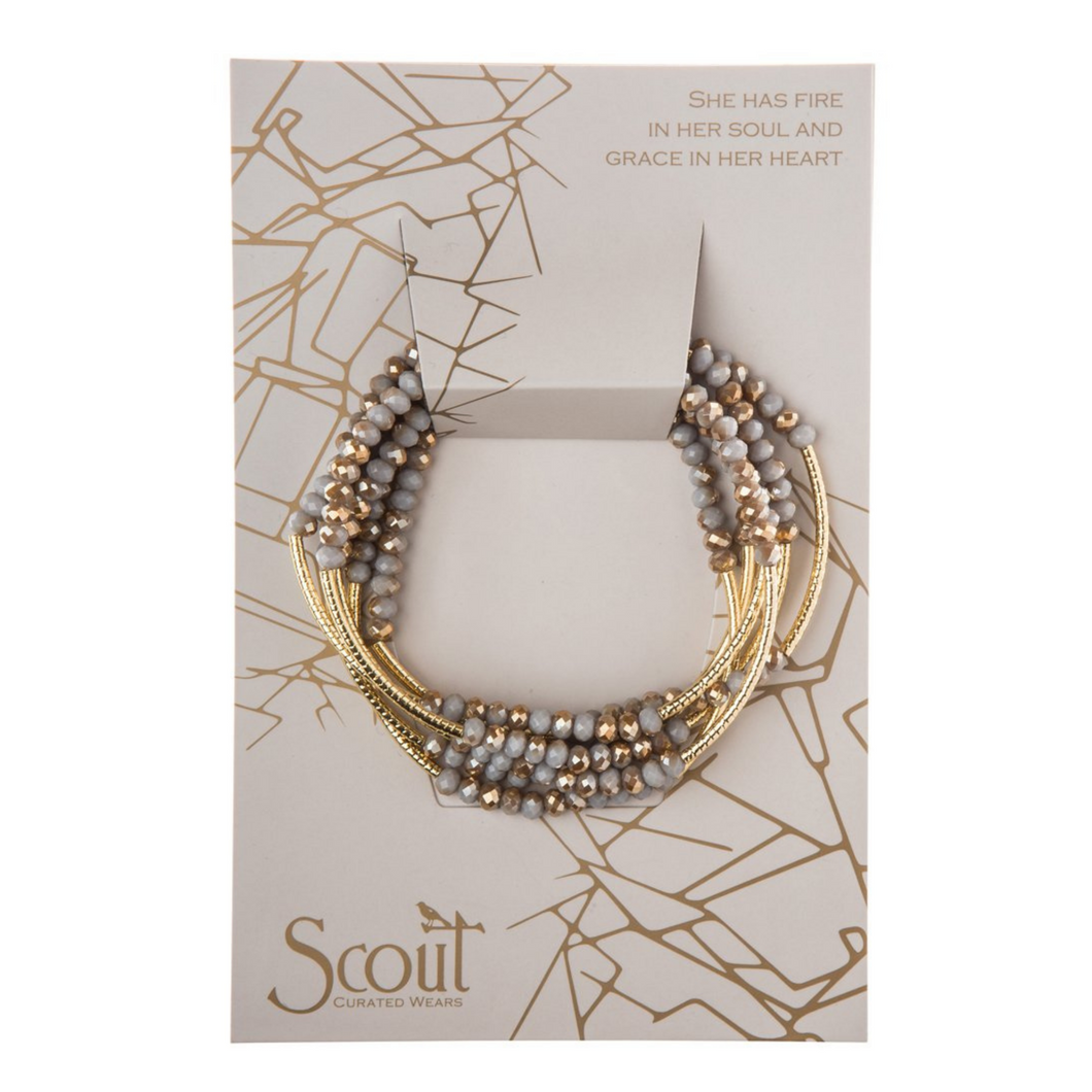 Scout - Wrap Bracelet Silver Lining & Gold