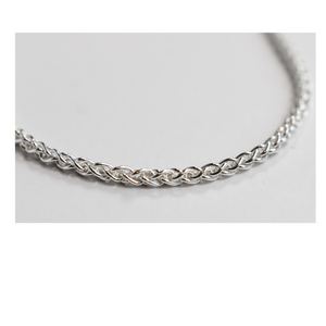 Silver Chain Wheat Link