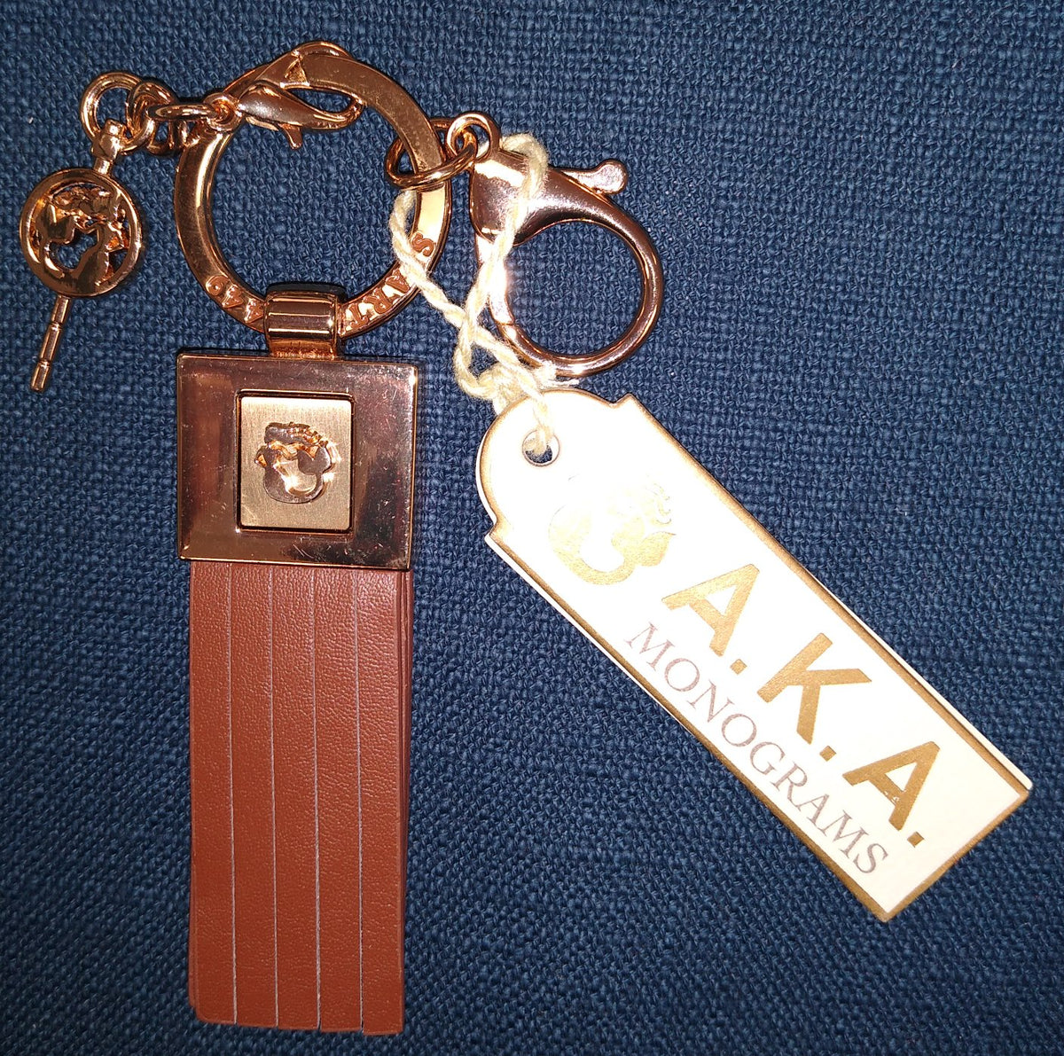 Spartina AKA Monogram Key Chain