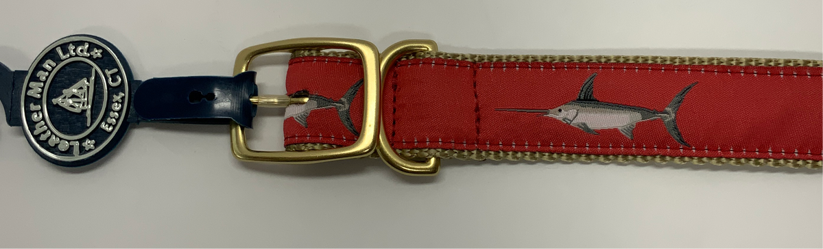 LM 1.25 Dog Collar Swordfish