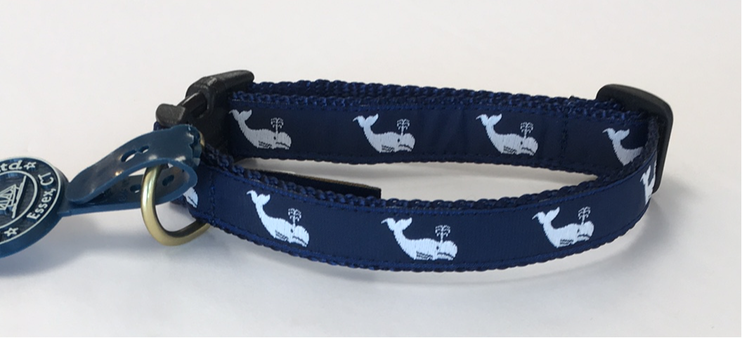 LM .75 Dog Collar Mini White Whale