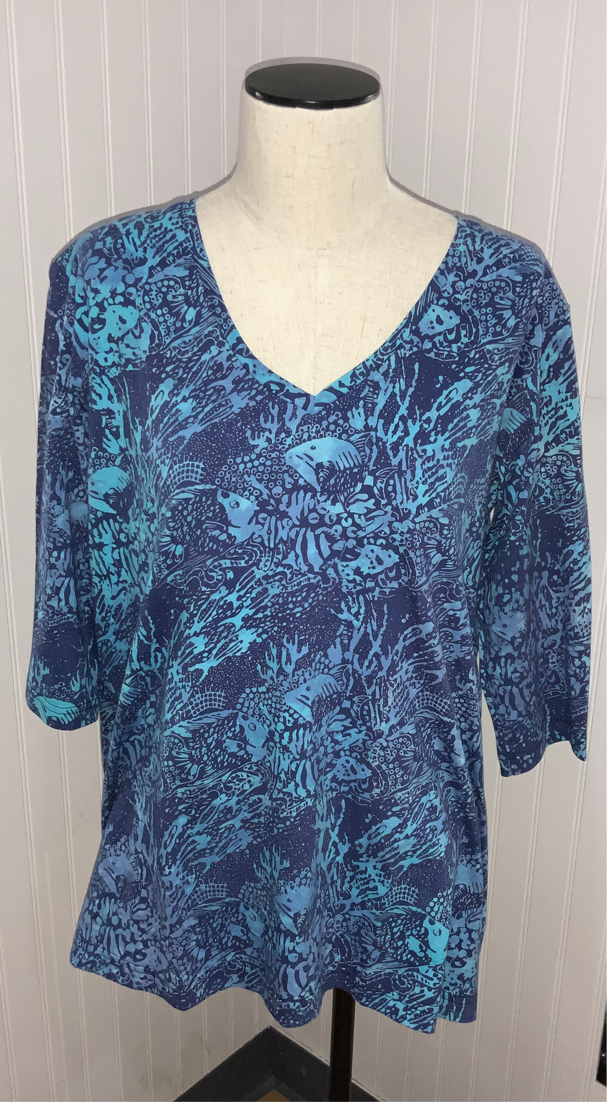 "Rum Reggae V-Neck Tunic ""Reef Relief"""
