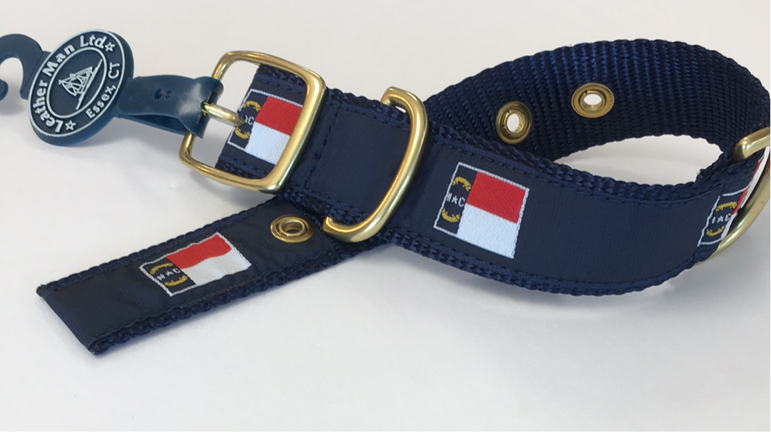 LM 1.25 Dog Collar NC Flag
