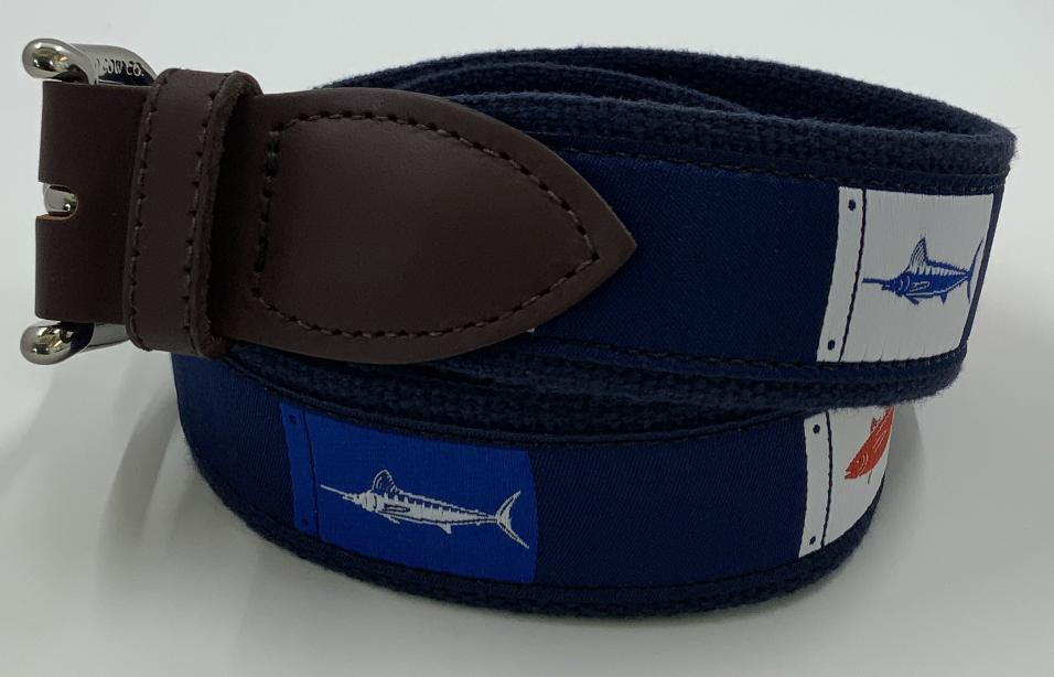 Belted Cow Fish Flags Belt