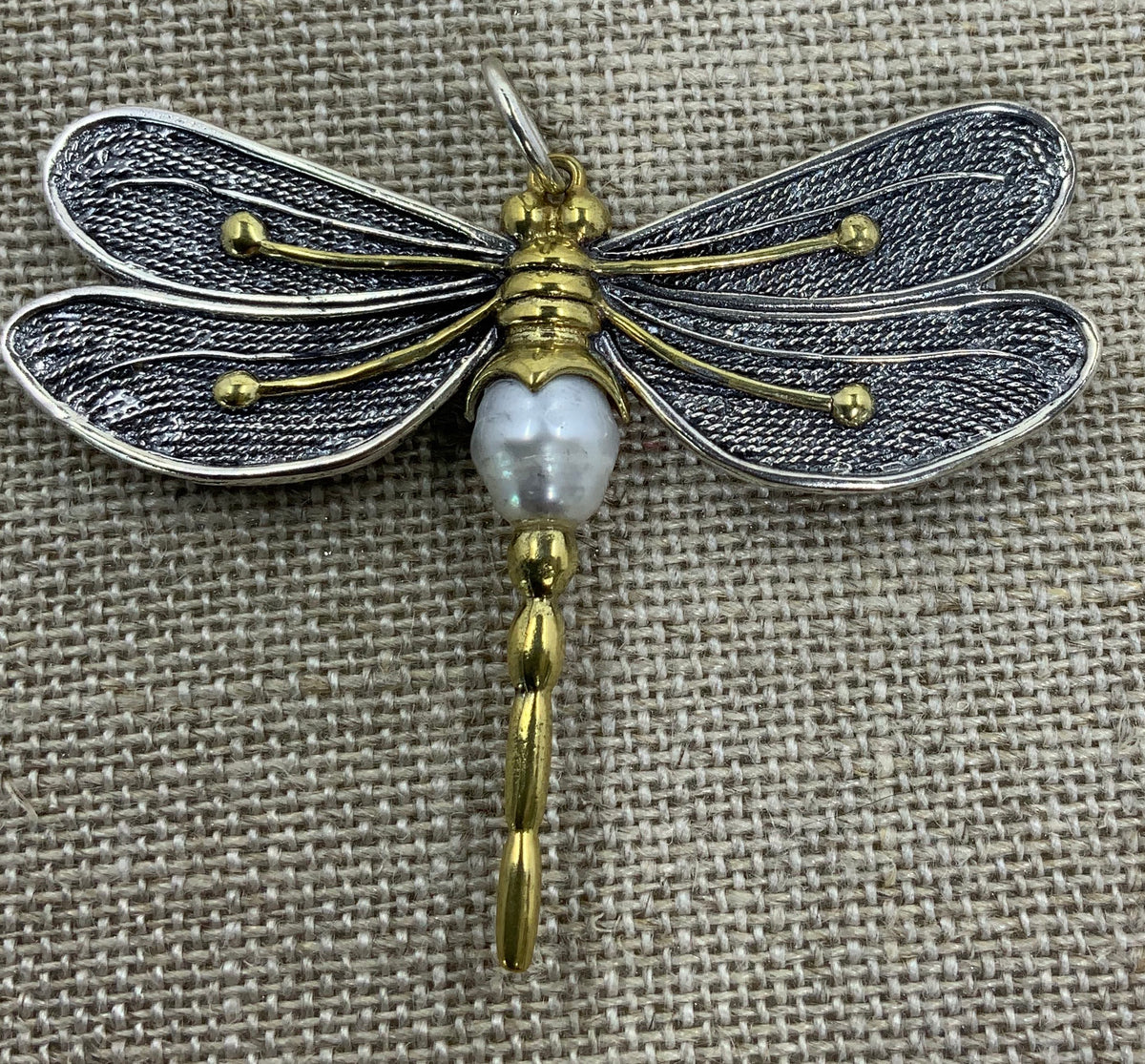 "Pearl of Change Pendant ""Dragonfly"""