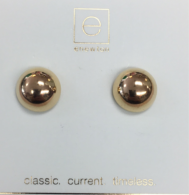 Classic Button Stud Earrings