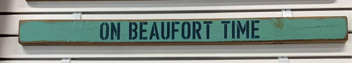 On Beaufort Time