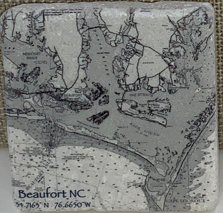 Blk& Wht Beaufort To Cape LO Magnet