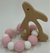 MPie Wood Teether Pink Bunny