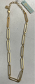 Long Link Gold Necklace 17""