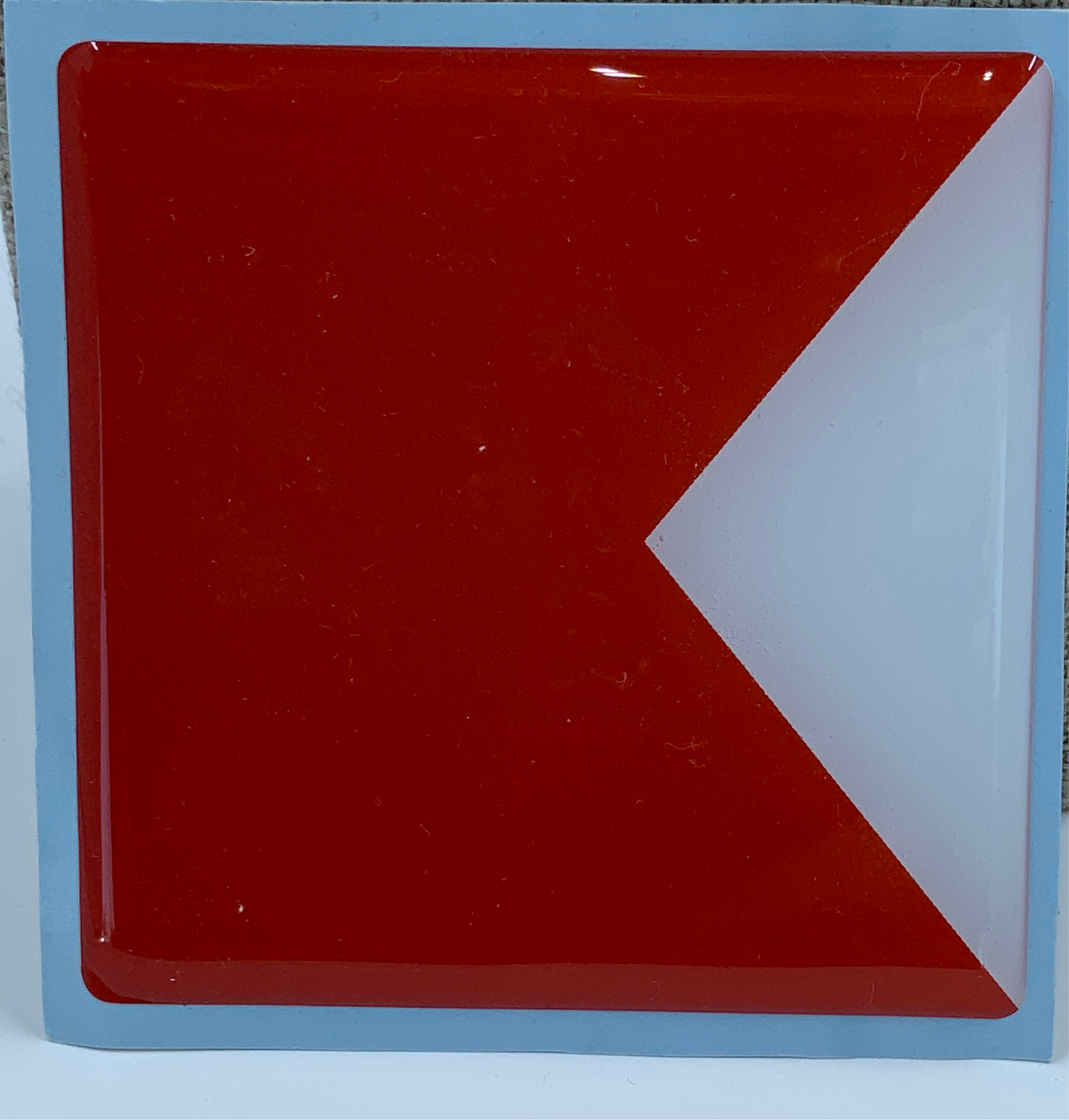 "3"" License Plate Code Flag"