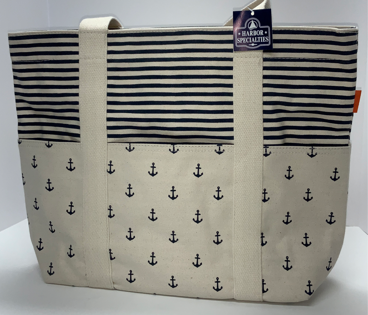 Canvas Carryall Tote Anchor Stripe