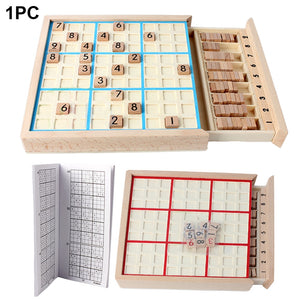 Sudoku Chess Chess Logic Training Board Children Intelligence Reasoning Toys Children Gifts Wooden Game Toys with Sudoku Books