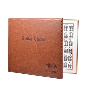 Muspor Guitar Chord Book Chart High Quality PU Leather 6 string Paperback Guitar Chords Tablature Guitarra finger Exercise Sheet