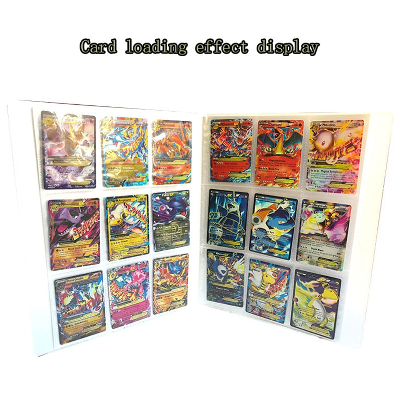Size Capacity Cards Album Card collection Book Pokemon Playing Cards Holder Album Kid Novel Toys Board Game Hold 324 And 112 Pcs